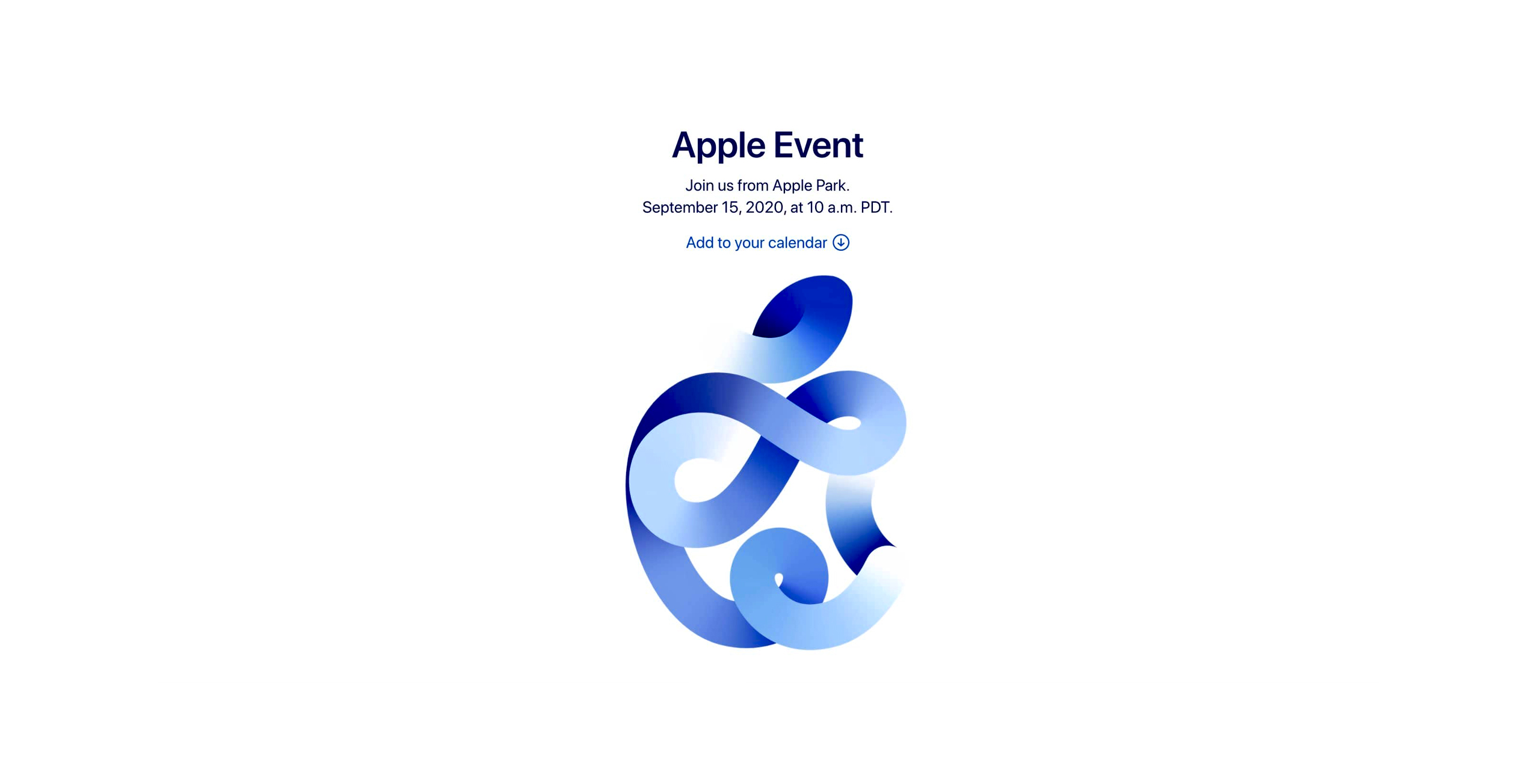 Apple Event ''Time Flies''