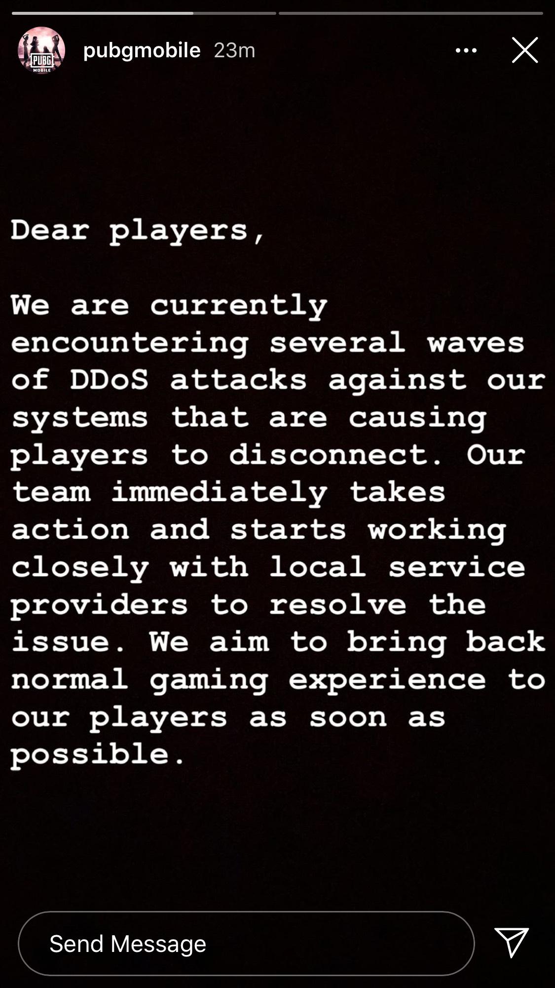 Pubg Mobile server down