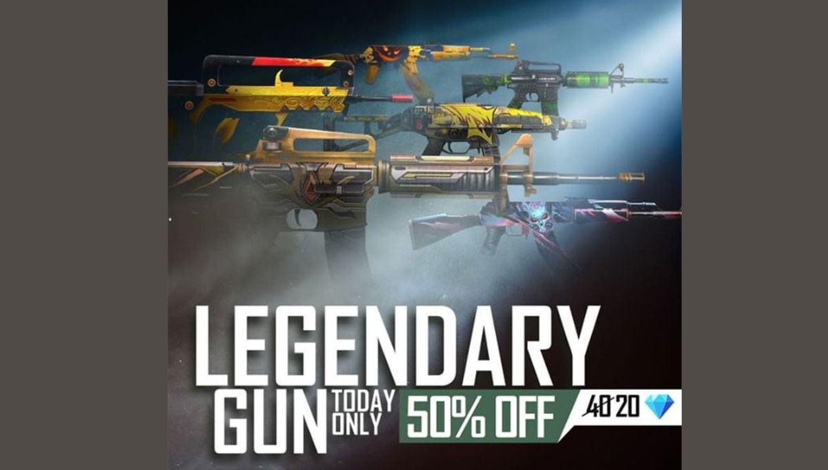 Free Fire Draco AK Gun Skin & Free UMP skin coming on Booyah Day