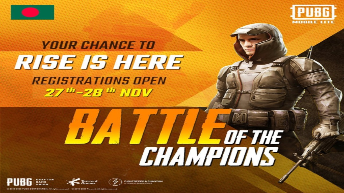 PUBG Mobile Lite Bangladesh Battle of Champions Tournament Registration open