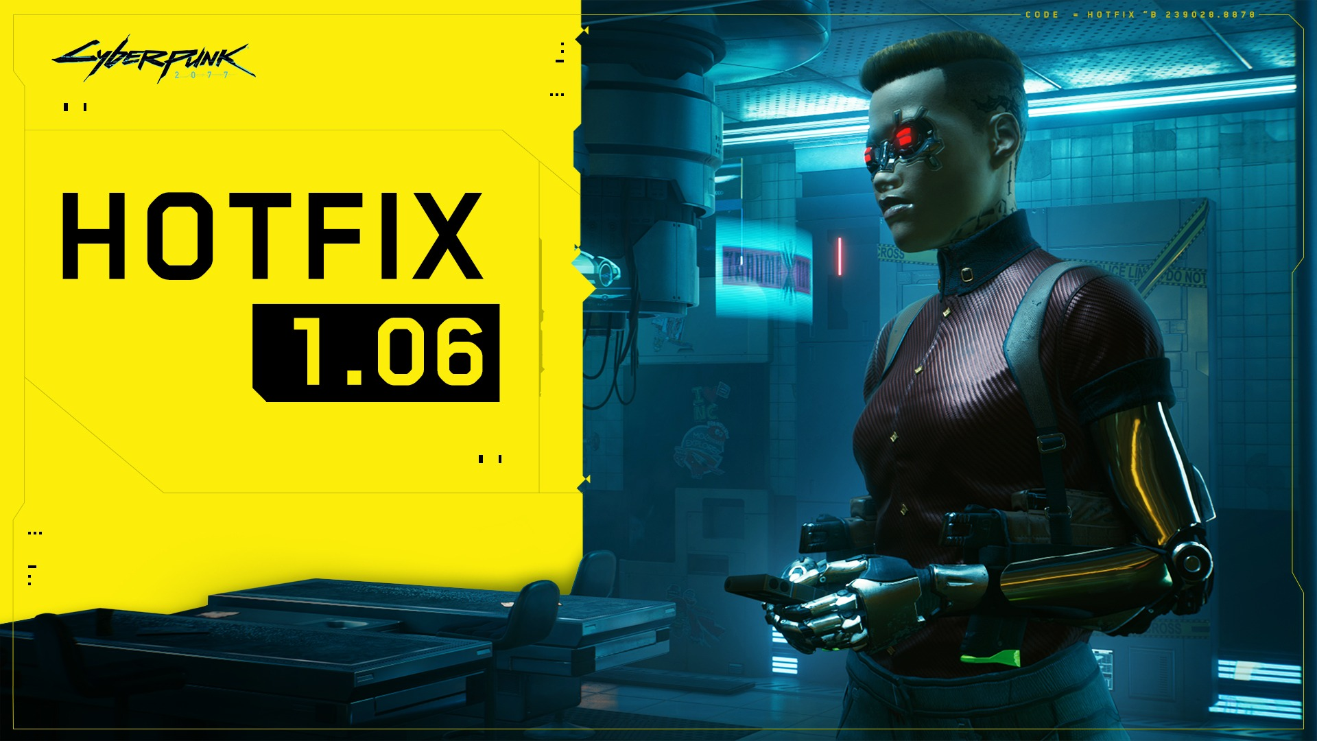 Cyberpunk 2077 Hotfix 1.06 is now available on both PC and Consoles